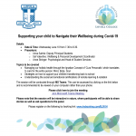 Supporting your child to Navigate their Wellbeing during COVID-19