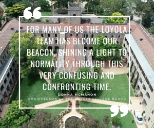 Letter from the Chairperson of the Loyola College Board